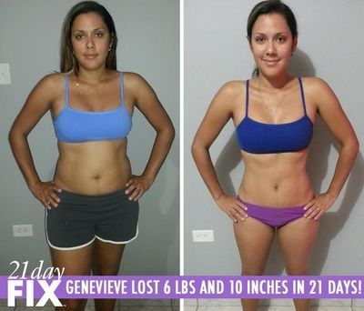 Genevieve lost 6 lbs and 10 inches in just 21 days with the 21-Day Fix program by Beachbody. Get amazing results just like this in 3 weeks!