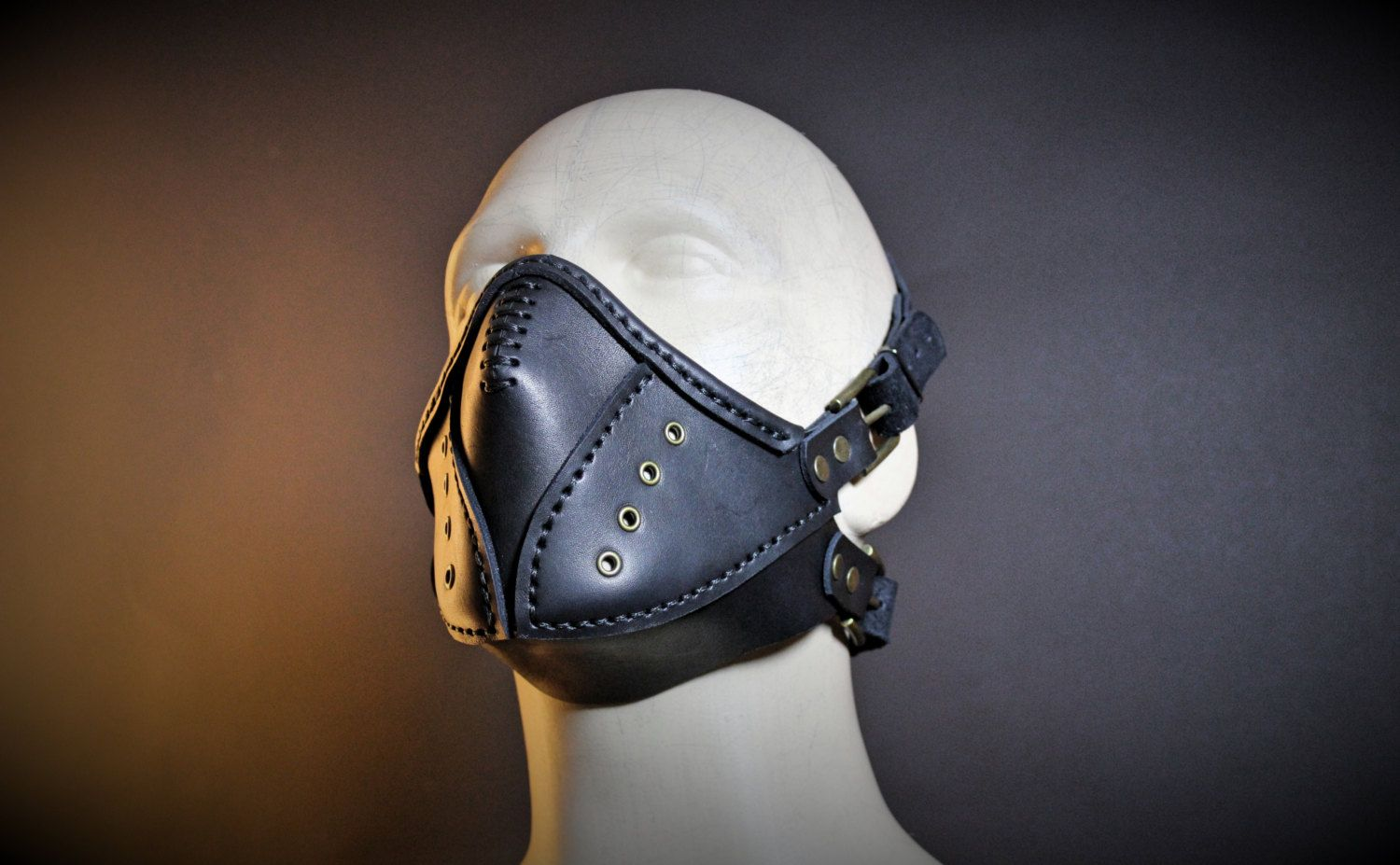 CYBERPUNK MASK leather hand made steampunk mask Halloween apocalypse gas mask gear