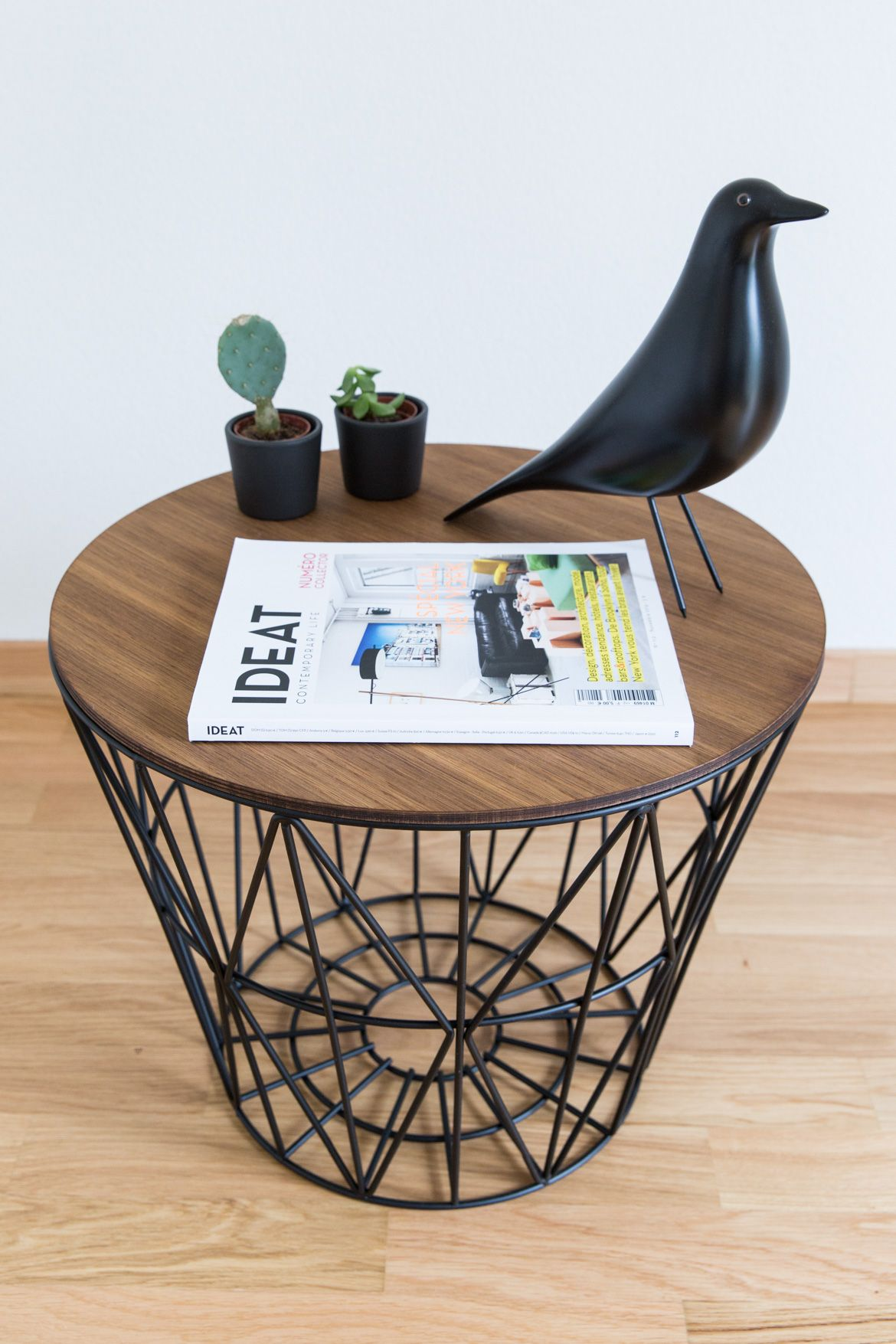 Ferm Living Couchtisch Ferm Living Wire Basket As A Side Table 70percentpure X