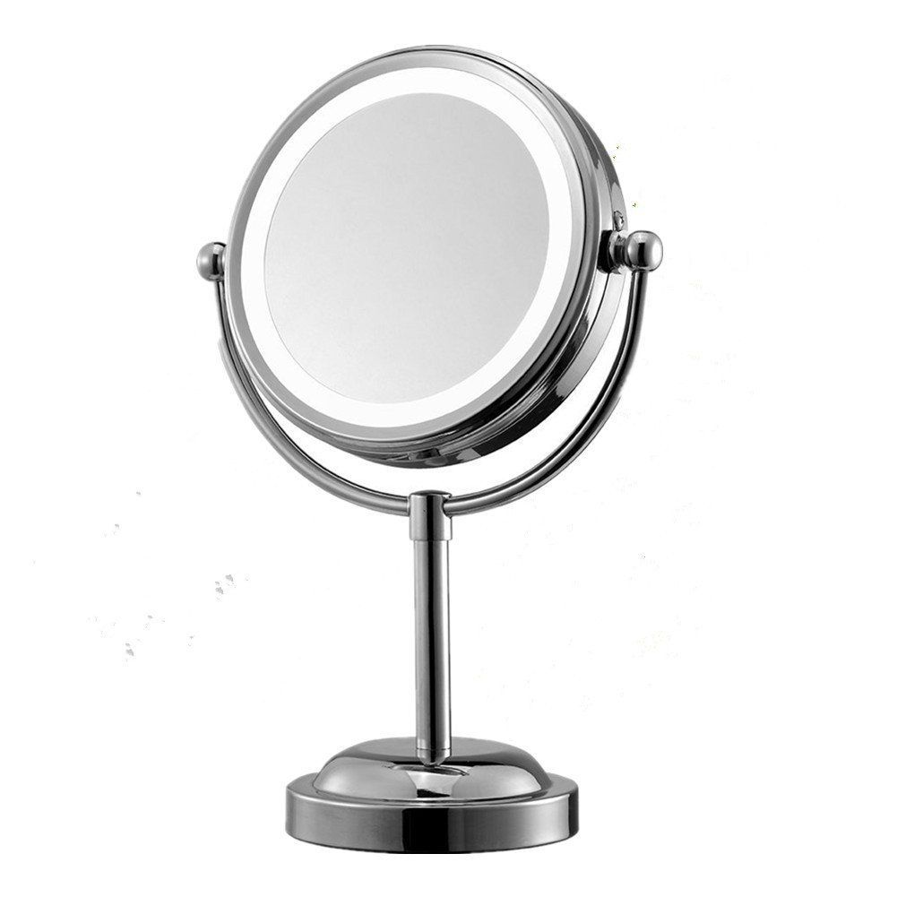 Solefun Mirror with Lights Double-sided Makeup Mirror 6-Inch Battery ...