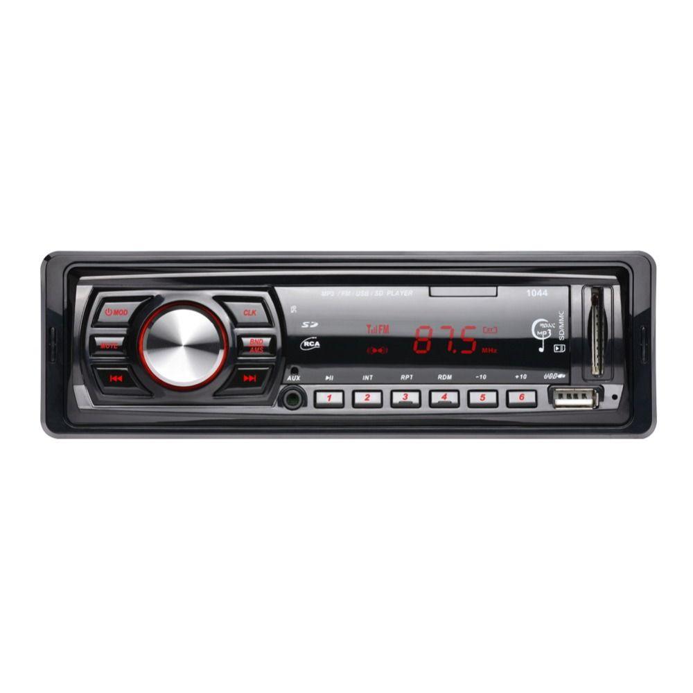 12 V En el tablero Individual 1 Din Car Audio Radio Estéreo Reproductor de MP3 FM receptor Aux Receptor de la Ayuda USB/SD/Mmc Control Remoto