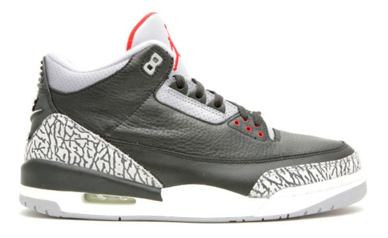 Original Air Jordan 3 Retro White Fire Red-Cement Grey