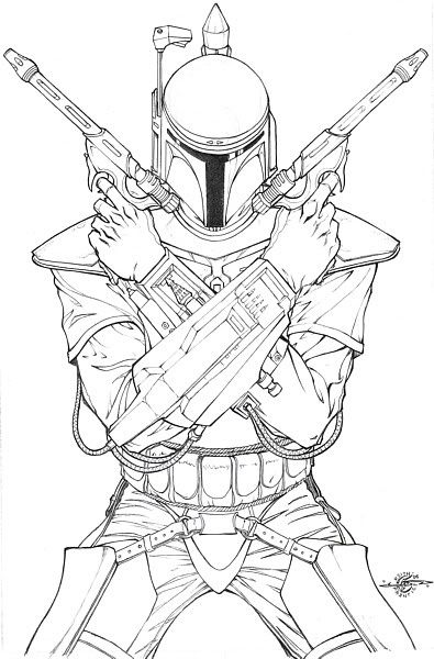 Star Wars Jango Fett Coloring Pages Star Wars Drawings Star