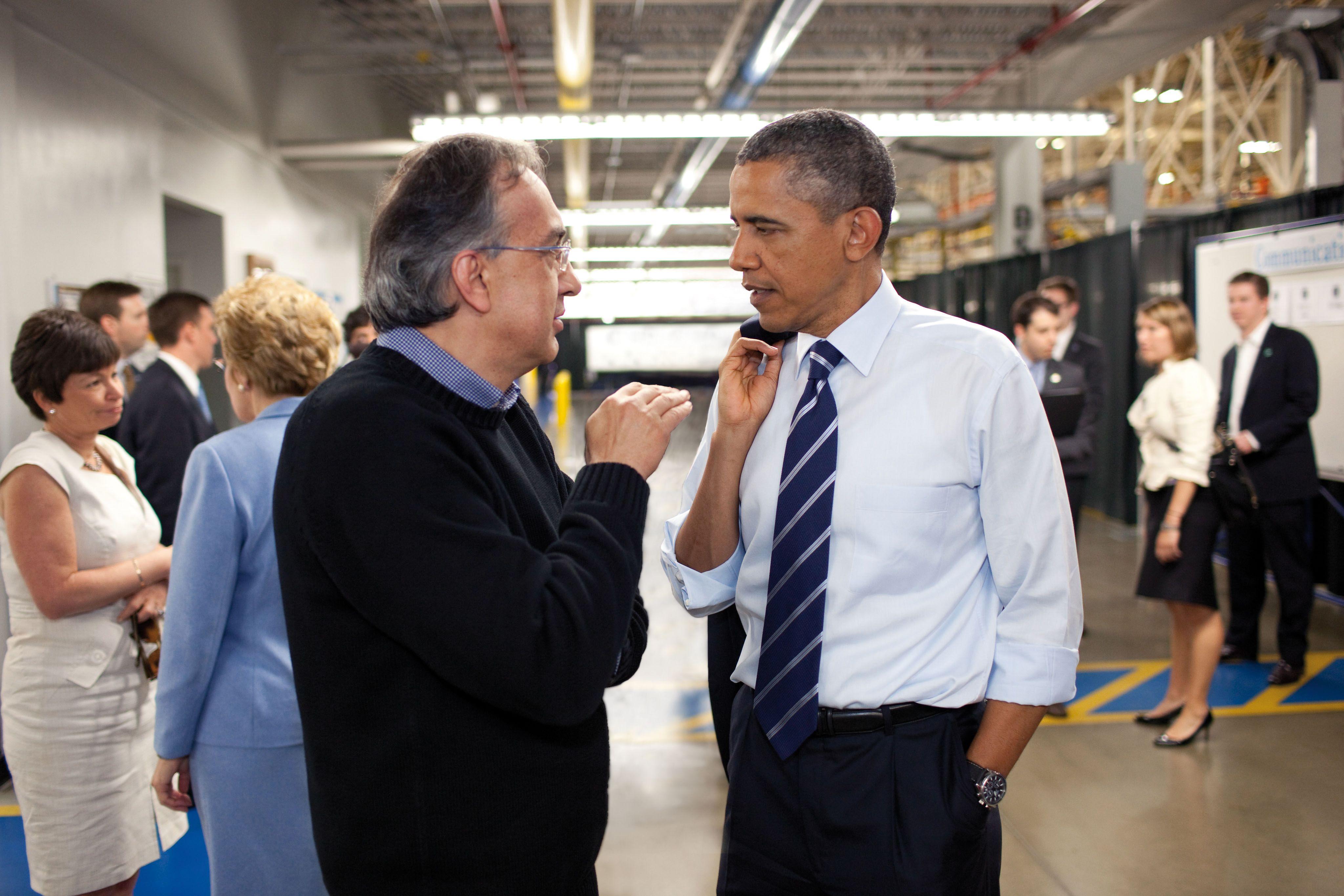 Barack Obama E Sergio Marchionne Sergio Marchionne