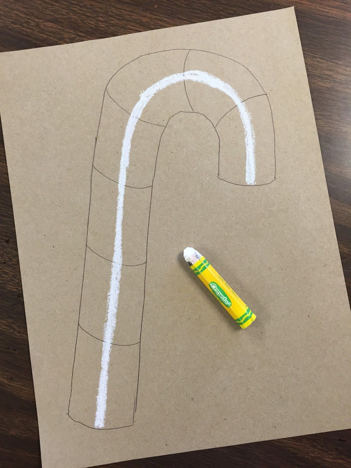 4th & 5th grade Blended Candy Canes Art Education
