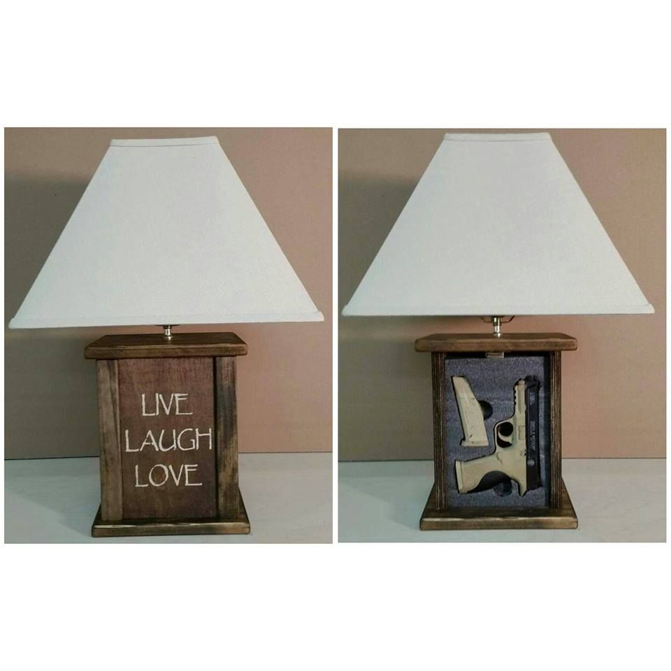 Live Laugh Love Tactical Concealment Lamp Home Gun