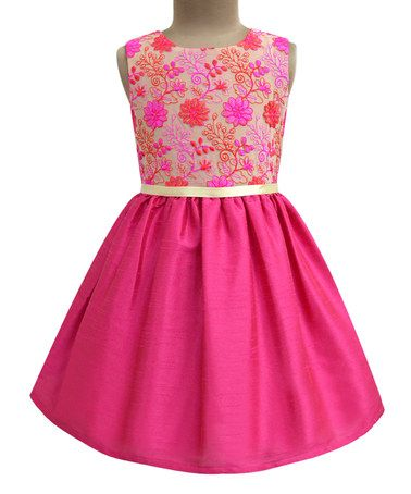 Look what I found on #zulily! Fuchsia Floral Fit & Flare Dress - Infant, Toddler & Girls #zulilyfinds