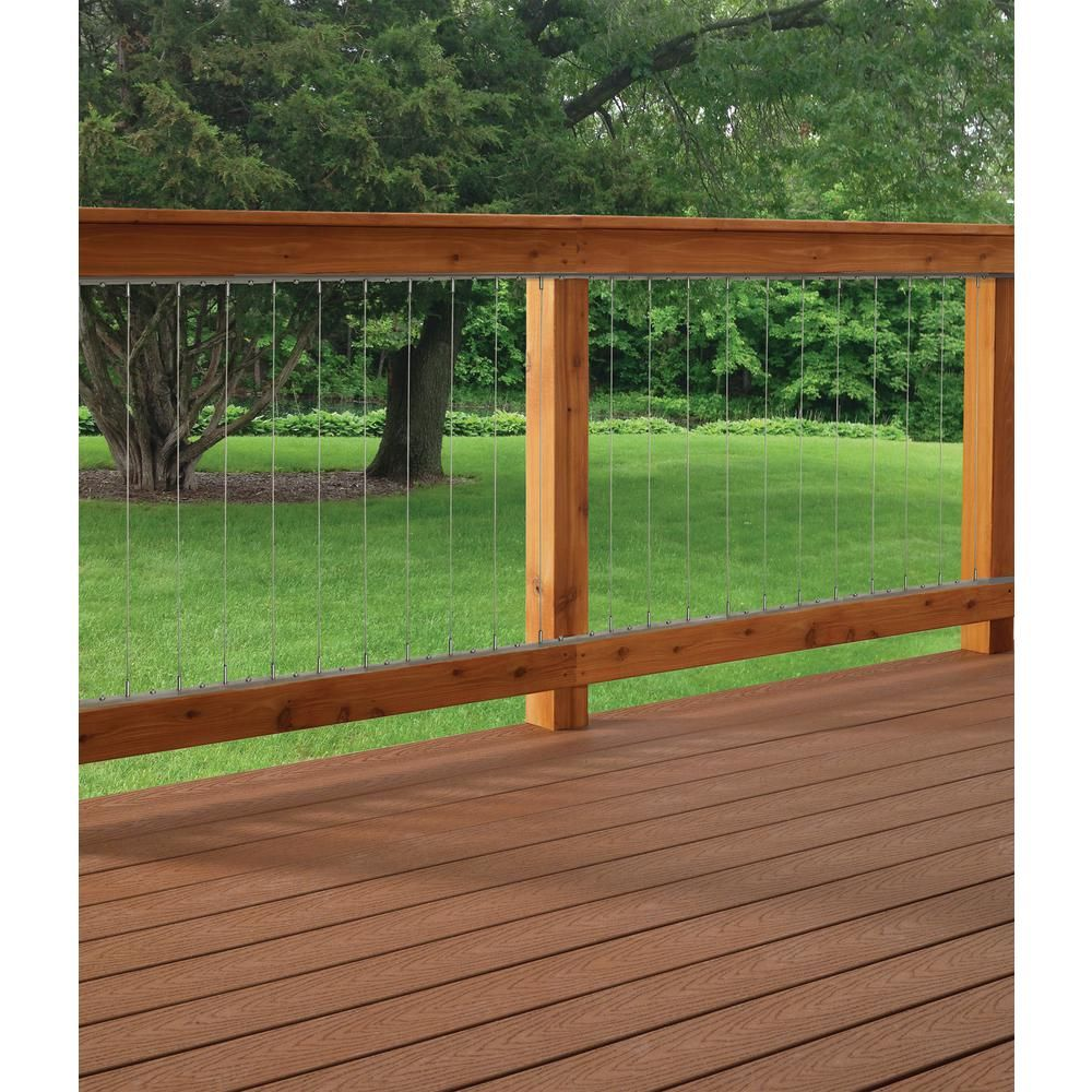Vertical Stainless Steel Cable Railing Kit for 42 in. High