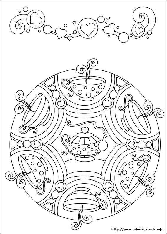 Free Tea Cup and Pot Adult Colouring Sheet | Cute ideas! | Pinterest ...