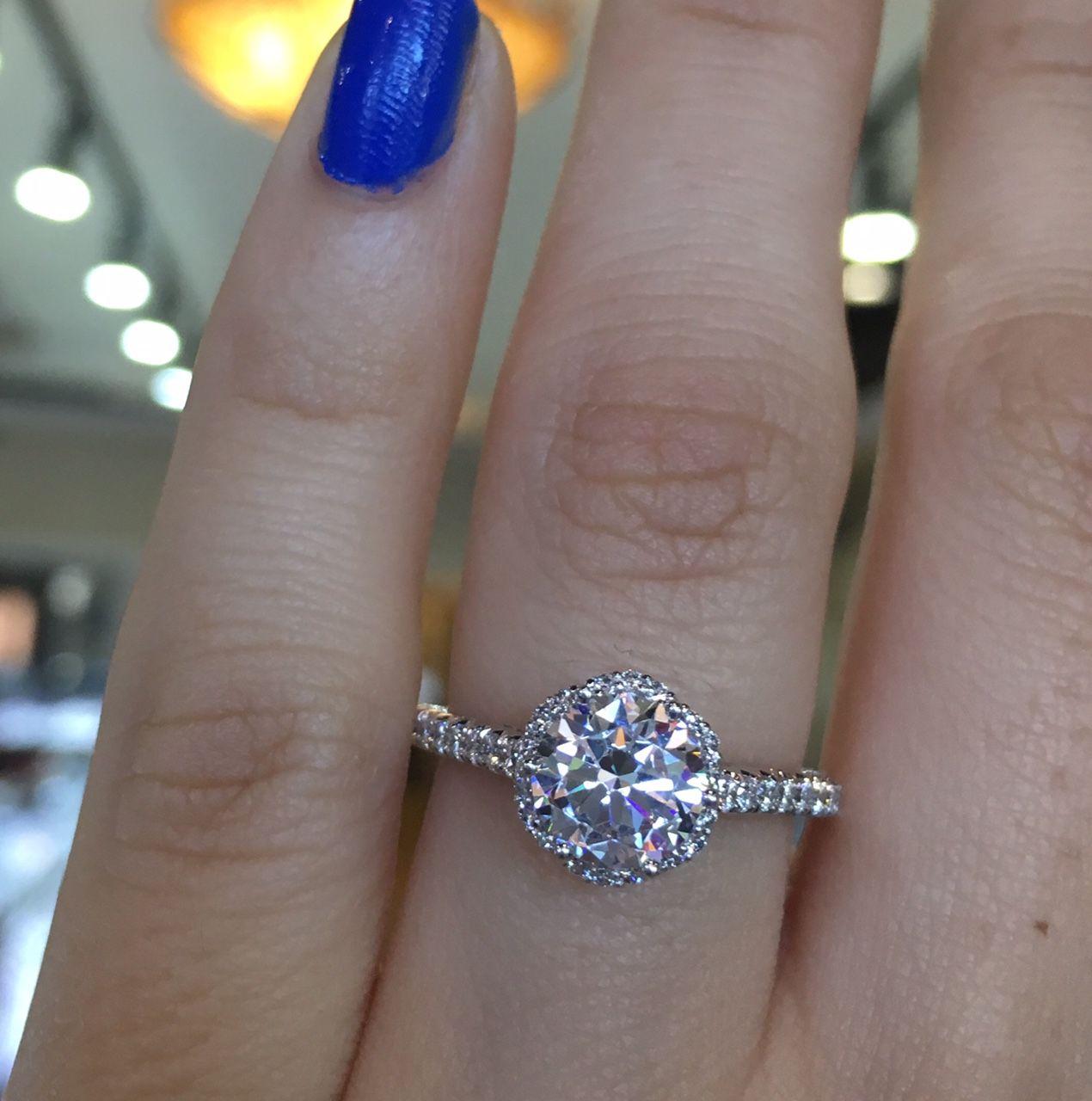 Tacori Engagement Rings Petite Crescent Diamond Solitaire