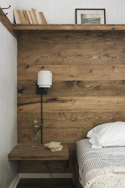 chambre mur traitement mur bois et crepi blanc