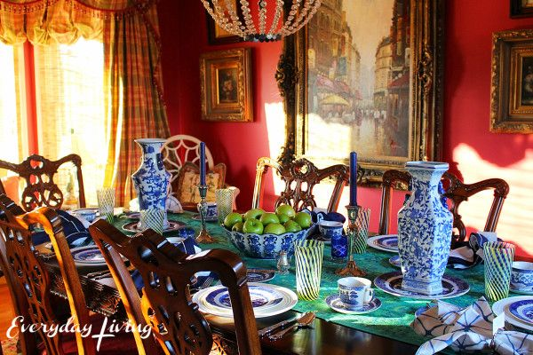 Tablescape Tuesday:  Apples Of Gold