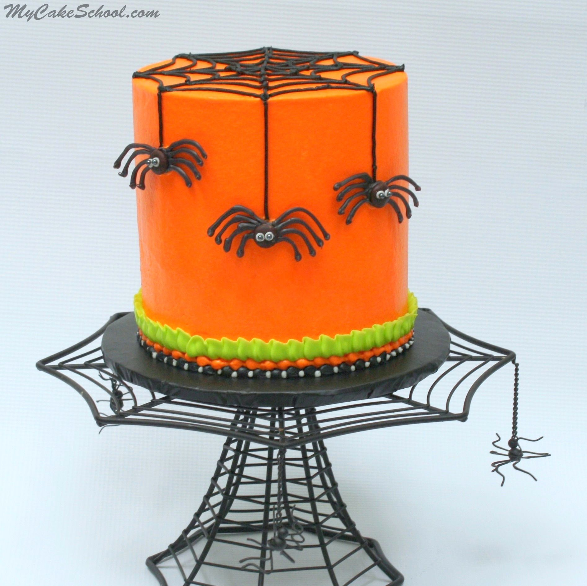 Free Halloween Cake Video Tutorial by MyCakeSchoolcom Chocolate