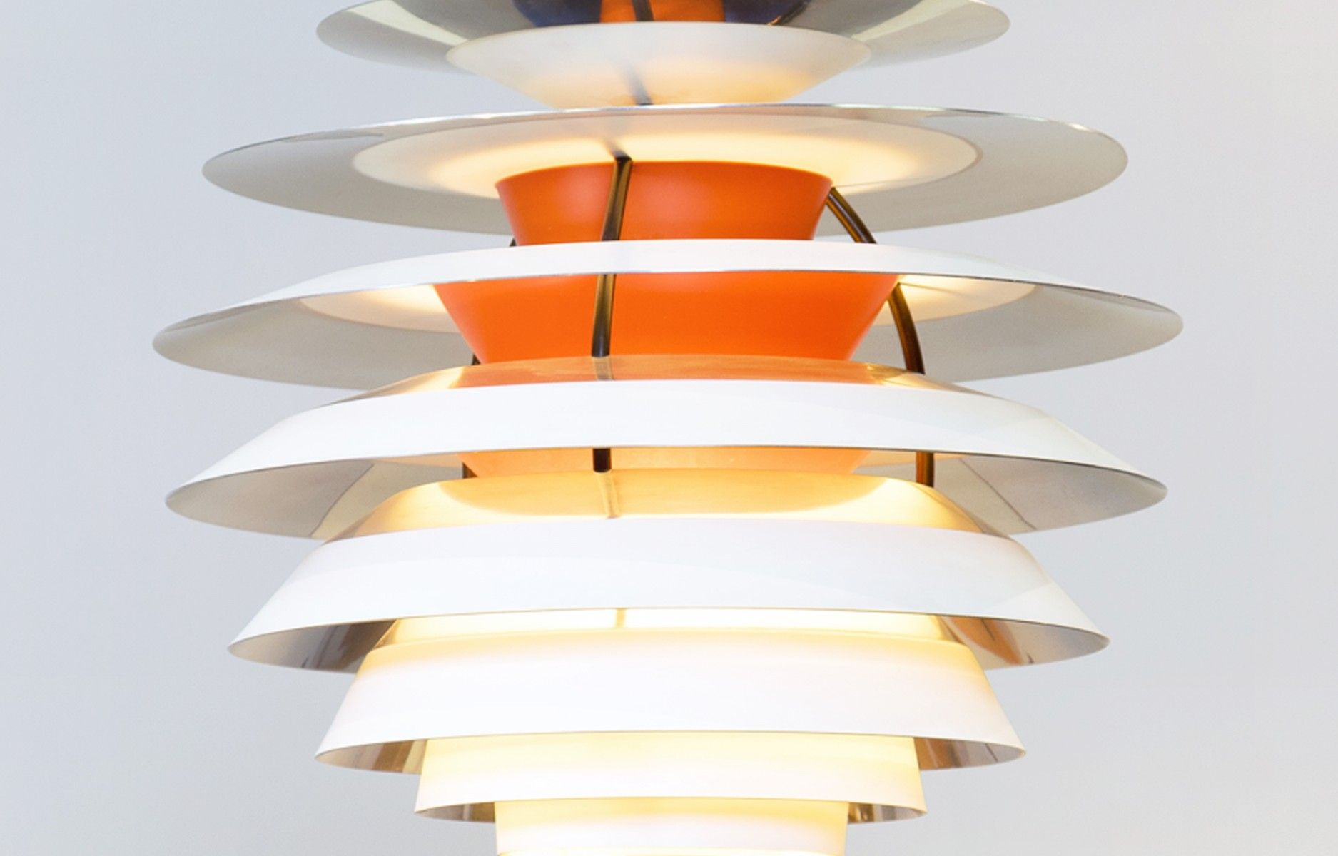 This Scandinavian Ceiling Lamp Was Designed By Poul Henningsen And Manufactured For Louis Poulsen During The 1960s In Denmark Ceiling Lamp Lamp Louis Poulsen