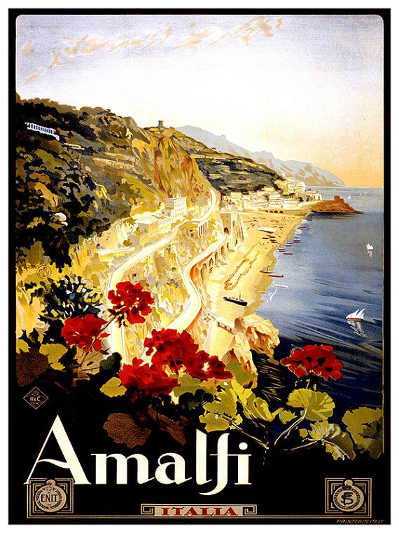 Italian Travel Poster Italy Wall Art Print ZT283 by Blivingstons ...