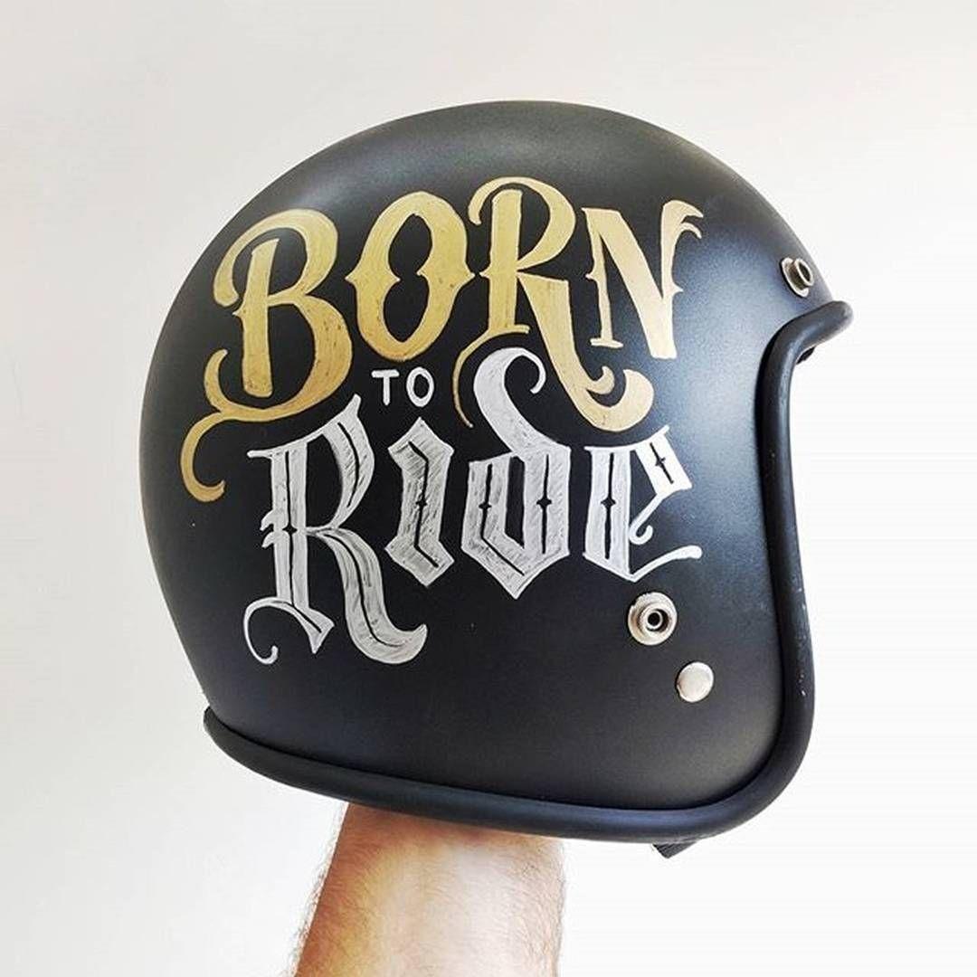 Instagram Photo By Handmadefont Jul 4 2016 At 8 30pm Utc Motorcycle Helmet Design Motorcycle Helmets Art Vintage Helmet
