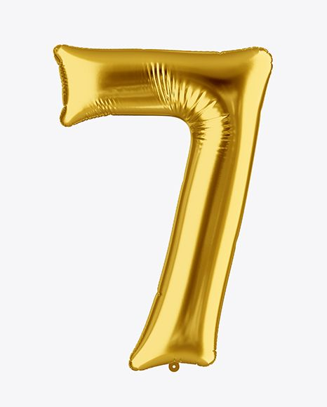 Number 7 Foil Balloon Mockup