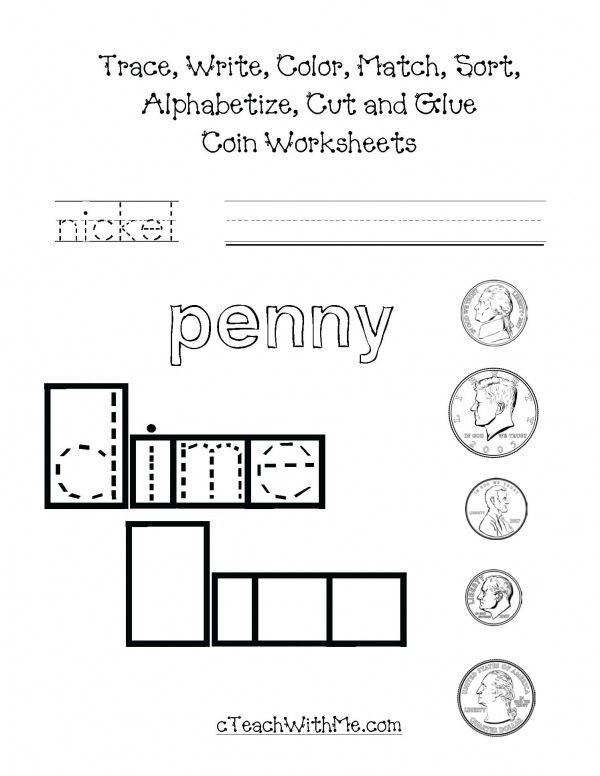 Coin Worksheets Packet Math Activities Pinterest Worksheets