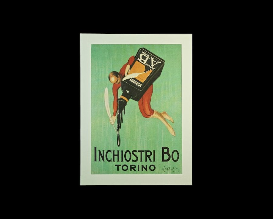 Inchiostri Bo Torino Unframed Reproduction Full Color Art Print Circa 1980s Free Shipping To All 50 States Colorful Art Art Reproductions Modern Poster