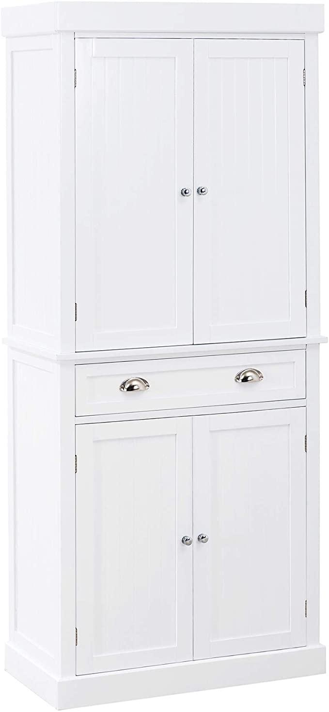 Amazon Com Sj Collection Eldon Wood Decorative Storage Cabinet White Kitchen Dining In 2020 Decorative Storage Cabinets Tall Cabinet Storage Storage Cabinet