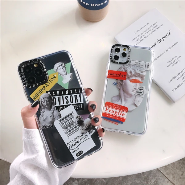 Luxury Art Letter Label Phone Case For iphone 11 Pro Max 7