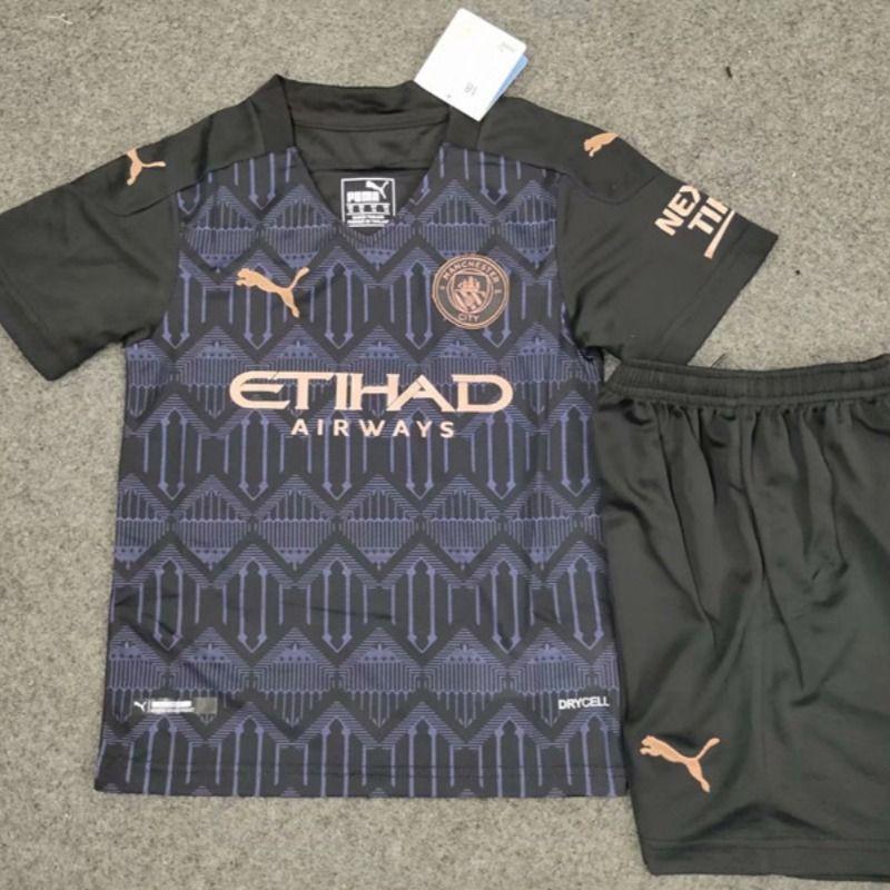2020 2021 Manchester City Away Black Soccer Uniform In 2020 Soccer Uniforms Soccer Manchester City