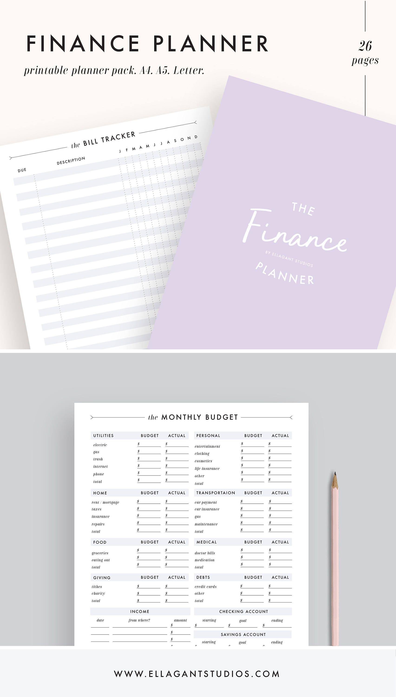 Finance planner, budget planner, financial planner