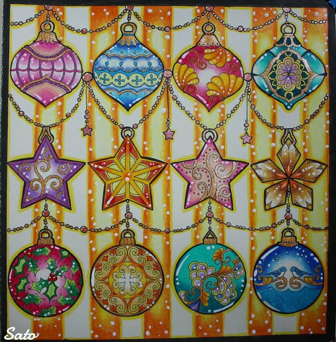 full page ornaments #JohannasChristmas