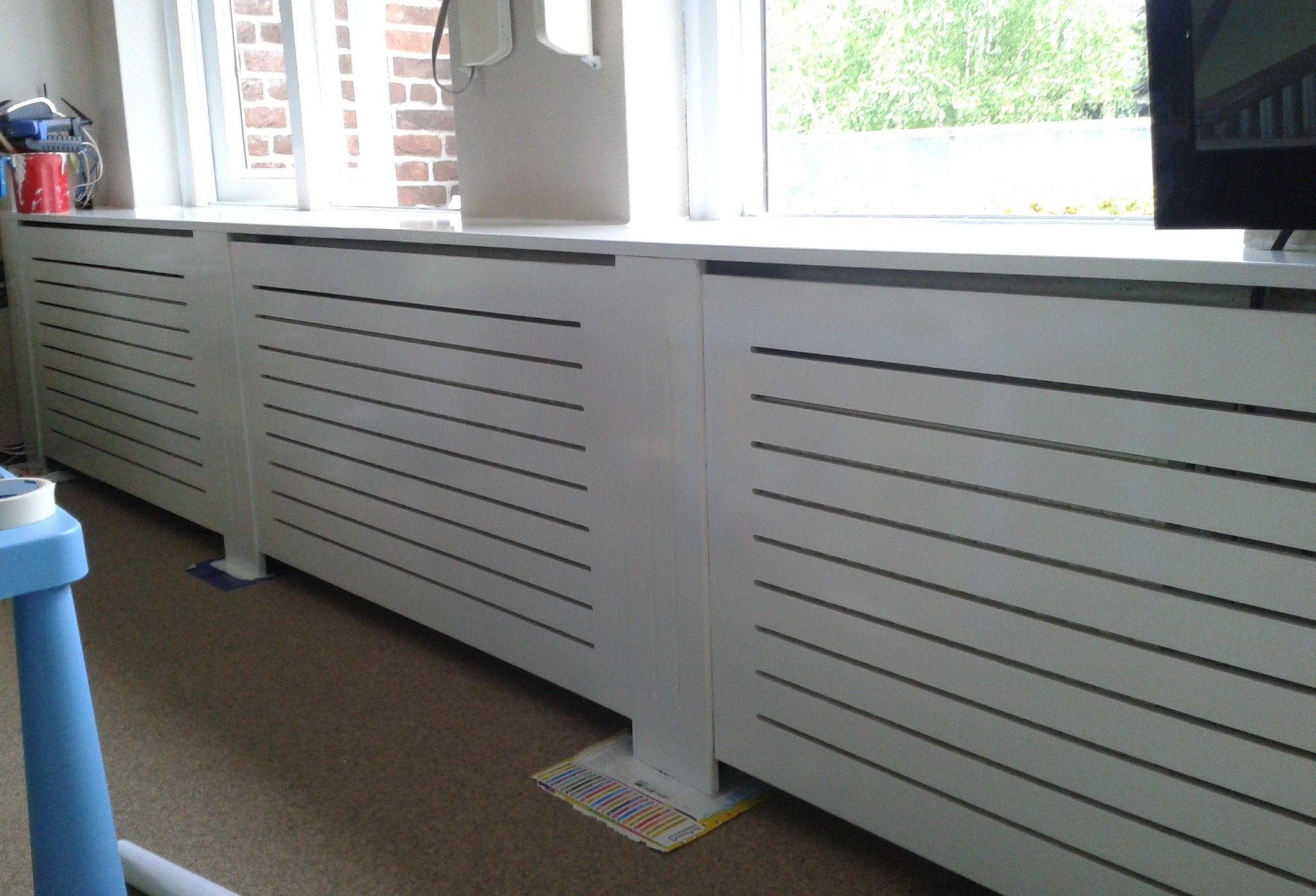 Zelf gemaakte radiator ombouw uit MDF Door hilvesa Huis