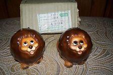 Vintage Norcrest China Co. Cute Lion Salt & Pepper Shakers MINT Japan Ships Free