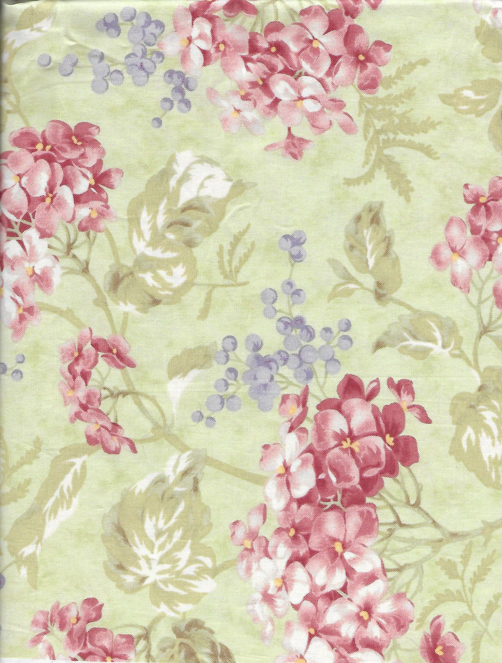 MODA Fabric BATIKS ~ Hibiscus by the 1//2 yard out of print