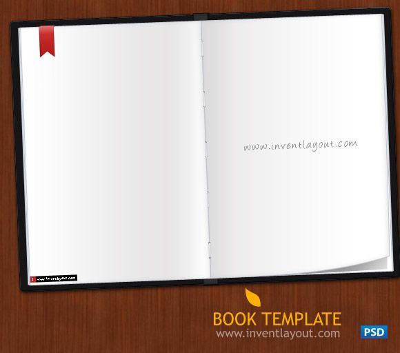 Book Template PSD Inventlayout - Download free PSD, AI - booklet template free download