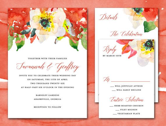 Printable Wedding Invitation Suite PDF by LittleSparkCreations - invitation unveiling