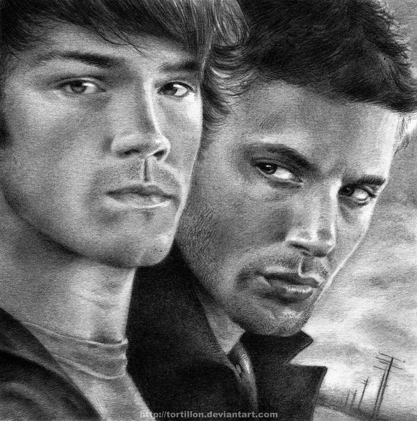 The Winchester Brothers by Stunning Pencil Drawings from TortilloN