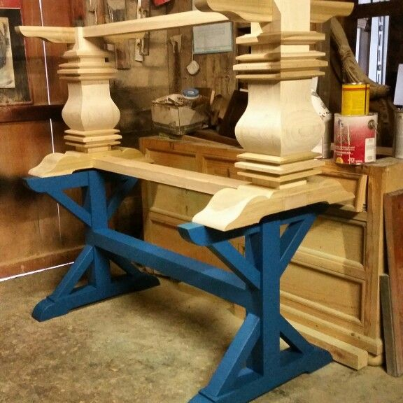 Farmhouse Table Bases from Barrio Antiguo in Houston Texas Custom