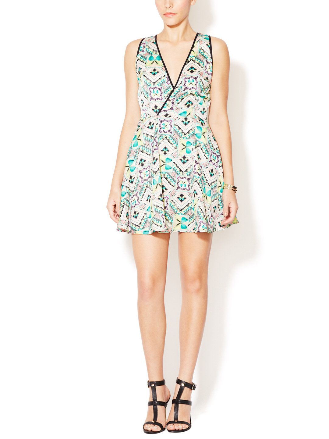 Shania V-Neck Cut-Out Dress by KAS at Gilt