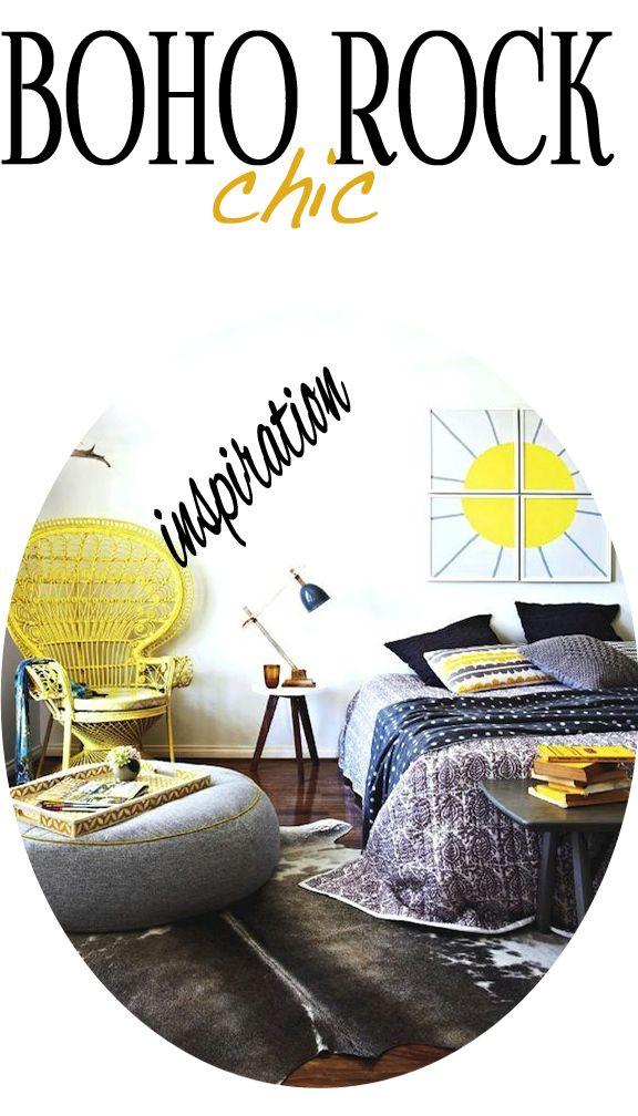 boho rock chic bedroom