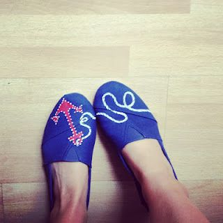 Anchor  Salty Sisters: Hand Painted Shoes