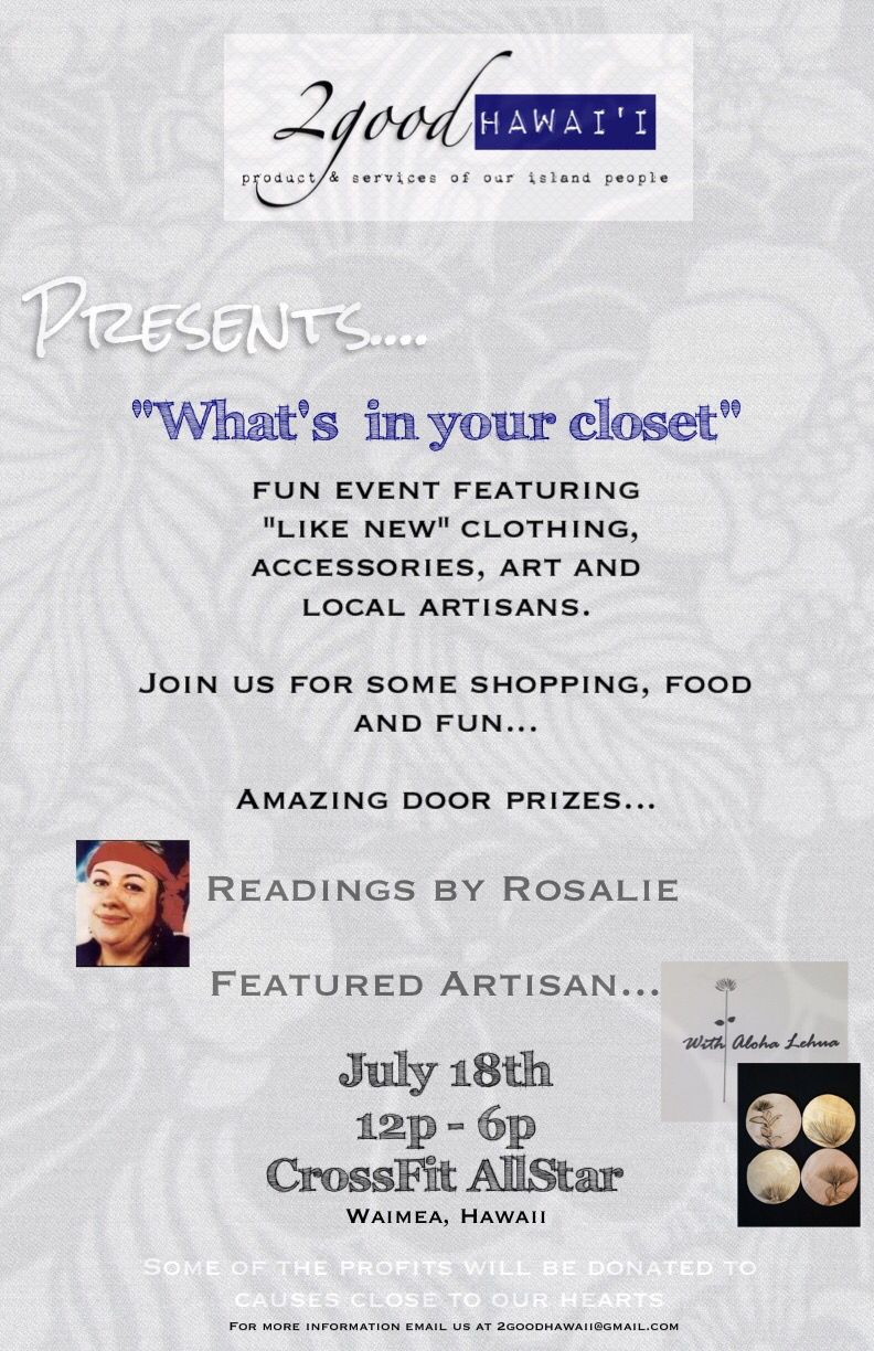 Consignment & Artisan event happen July 18th.. Join us!