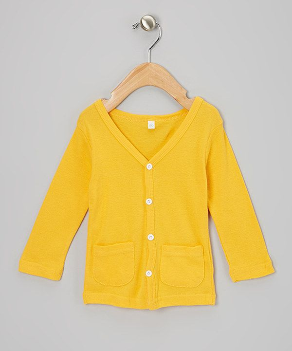 Take a look at this pinkEpromise Orange Cardigan - Toddler & Girls ...
