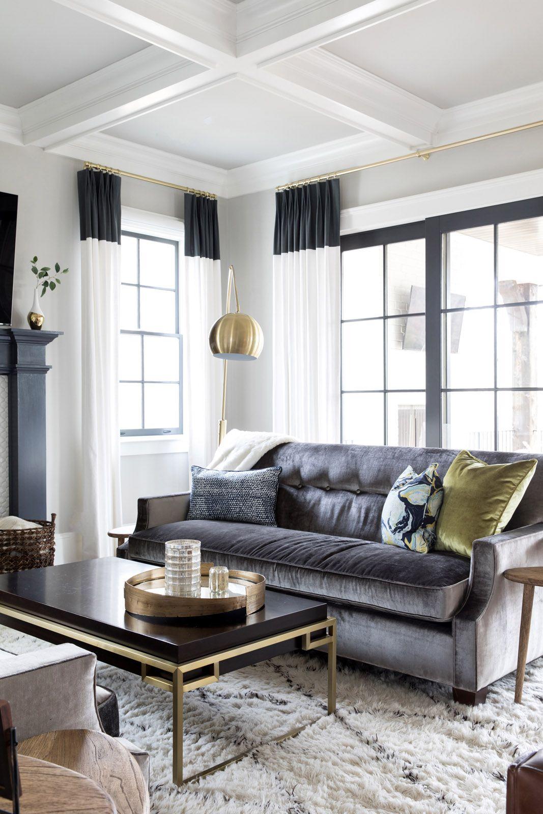 Arborfield New South Home Dark Neutrals Contemporary Chic Living Room Chic Living Room Chic Living Room Design Contemporary chic living room