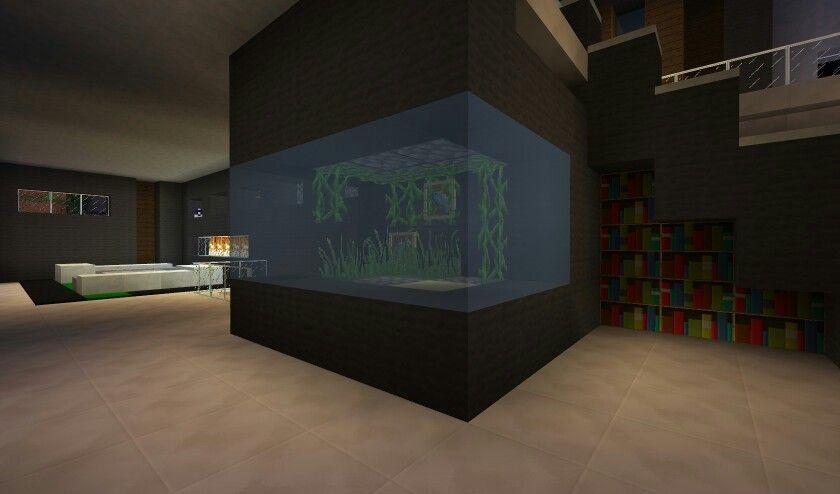 Modern Fish Tank  Minecraft  Pinterest  Modern Fish Tank And Cool Minecraft Modern Kitchen Designs Review