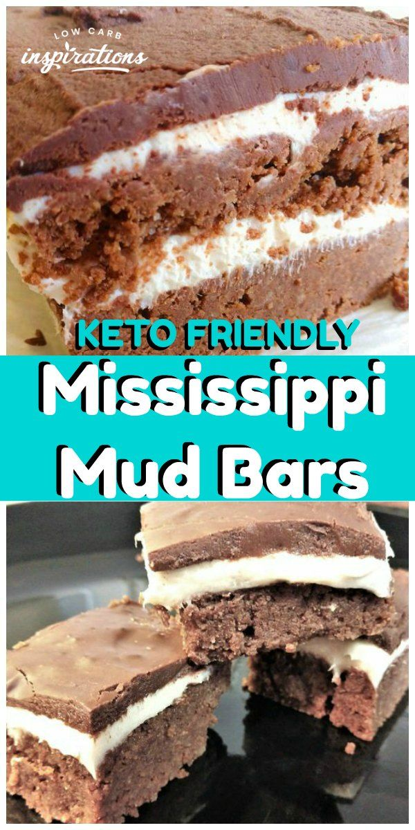 Keto Mississippi Mud Bars Recipe made with Keto Marshmallow Fluff #ketodessert