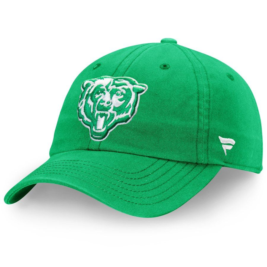 finest selection 5d386 fff81 Men s Chicago Bears NFL Pro Line by Fanatics Branded Kelly Green St. Patrick s  Day Fundamental II Adjustable Hat, Your Price   19.99