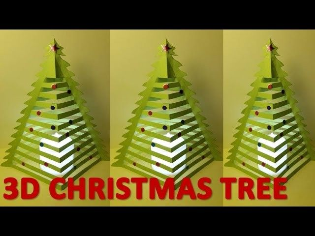 how to make 3d christmas trees 3d christmas tree with paper 3d paper xmas tree - How To Make 3d Christmas Decorations