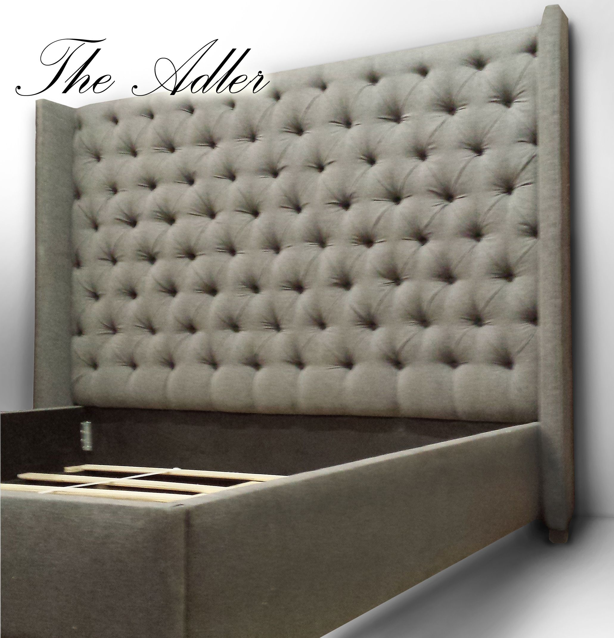 Great prices on custom made tall tufted beds and headboards. Any size,  shape and