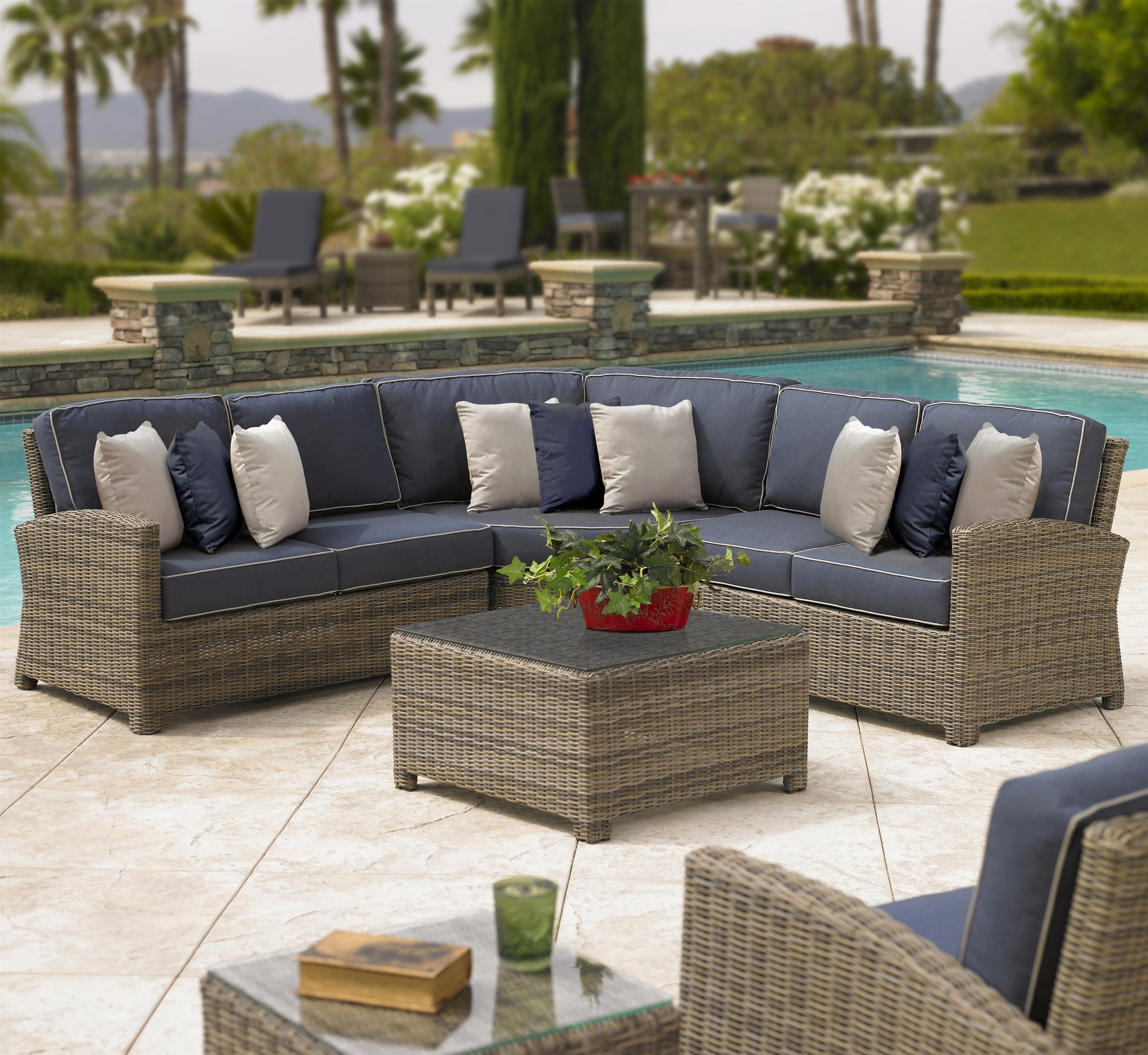 Bainbridge Outdoor Sectional by NorthCape International ON DISPLAY