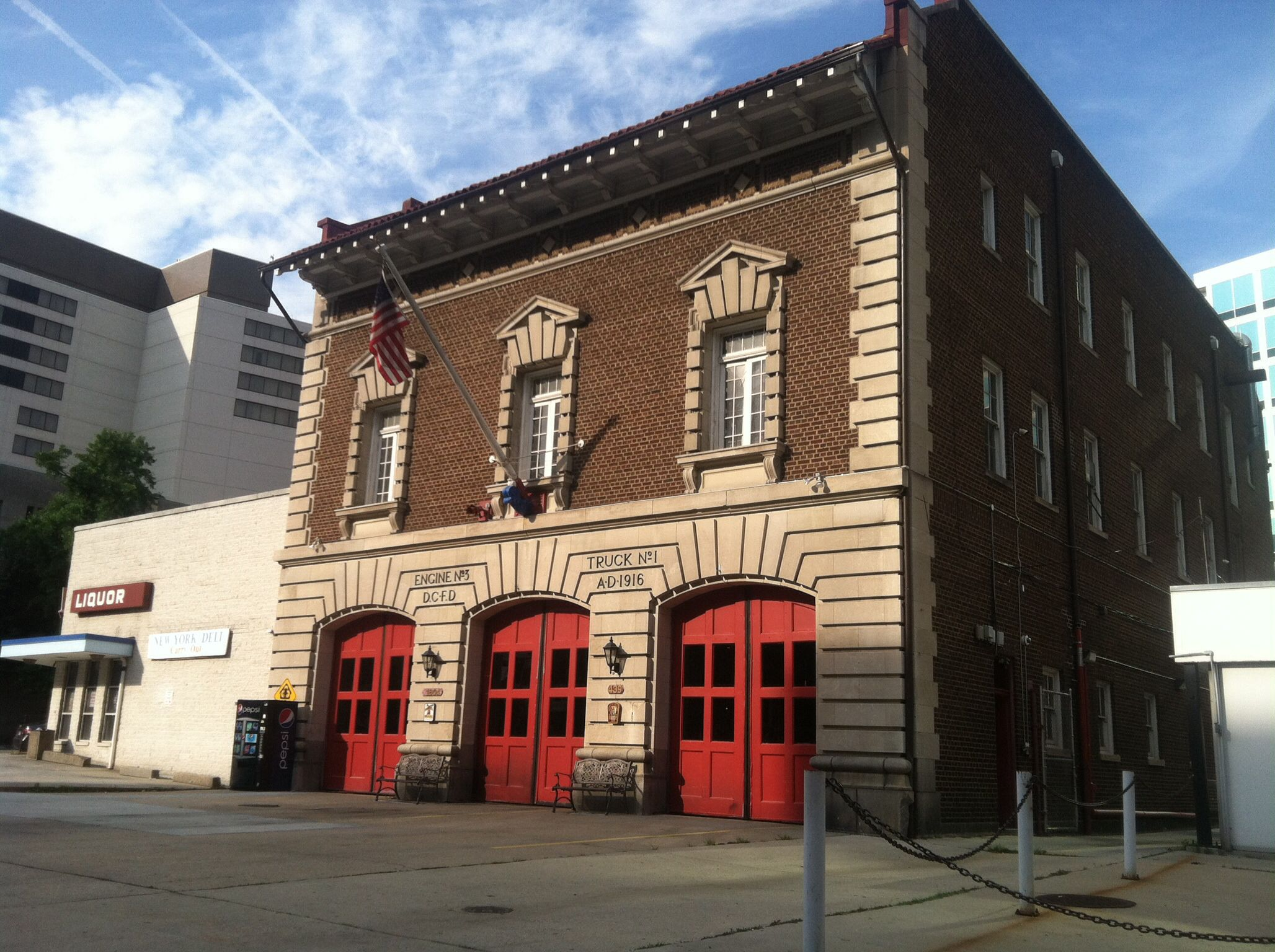 DCFD Engine 3, Ambulance 3 and the Fire Museum on the
