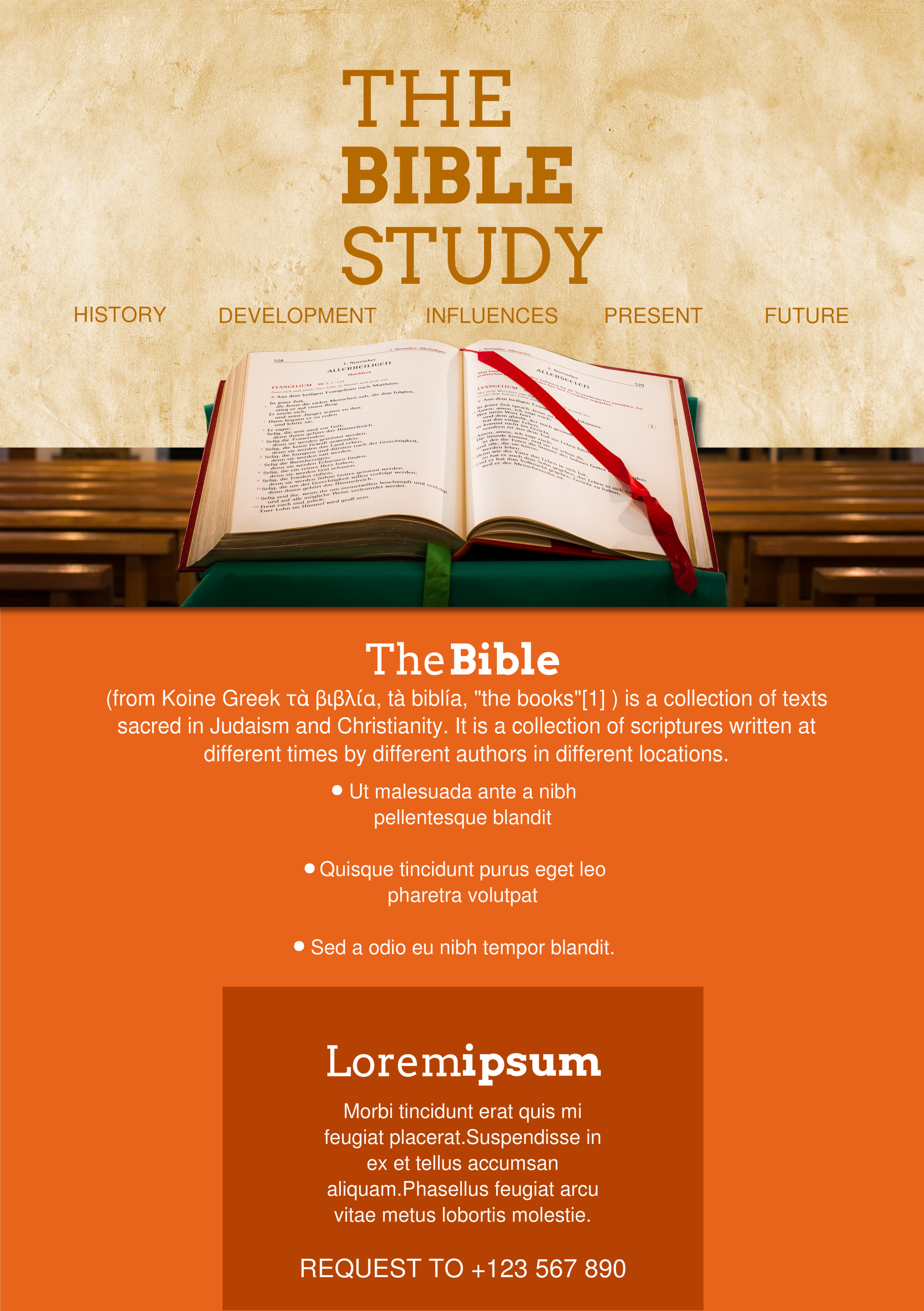 Bible study a5 promotional flyer for Research study flyer template