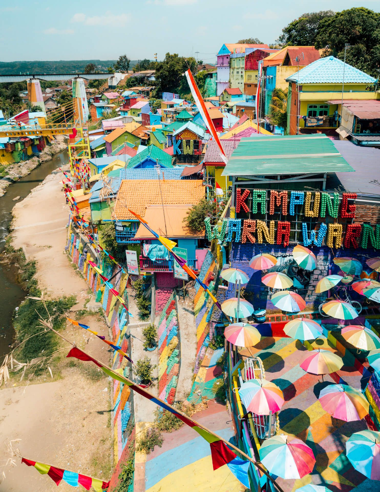 Colorful Rainbow Village In Malang A Must Visit In Java Indonesia Indonesia East Java Asia Travel